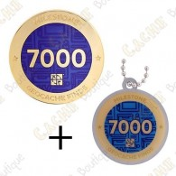 "Geocoin + Traveler ""Milestone"" - 7000 Finds"
