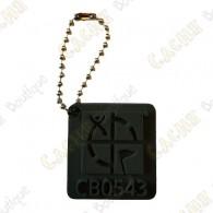 Geocaching logo 3D travel tag - Black