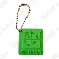 Geocaching logo 3D travel tag - Green
