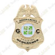 "Geocoin Official Junior Geocacher Badge"""