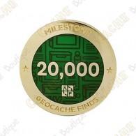 "Geocoin ""Milestone"" - 20 000 Finds"