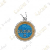 """Travel tag """"Milestone"""" - 25 000 Finds"""
