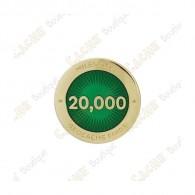 """Pin's """"Milestone"""" - 20 000 Finds"""