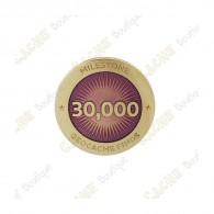 """Pin's """"Milestone"""" - 30 000 Finds"""