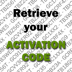 Retrieve your activation code
